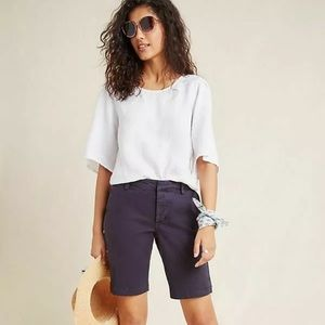 Anthropologie Bermuda navy blue shorts